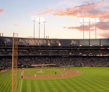 Baseball - Oakland A's - Baseball Stadium - Summer Pasttime - America's Favorite Sport