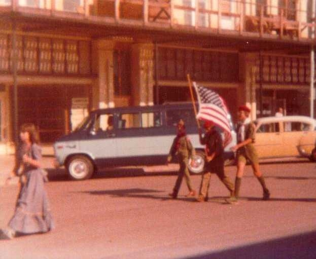 Boy Scout Color Guard - Ashland Kansas - Main Street - Fourth of July - Betsy Ross