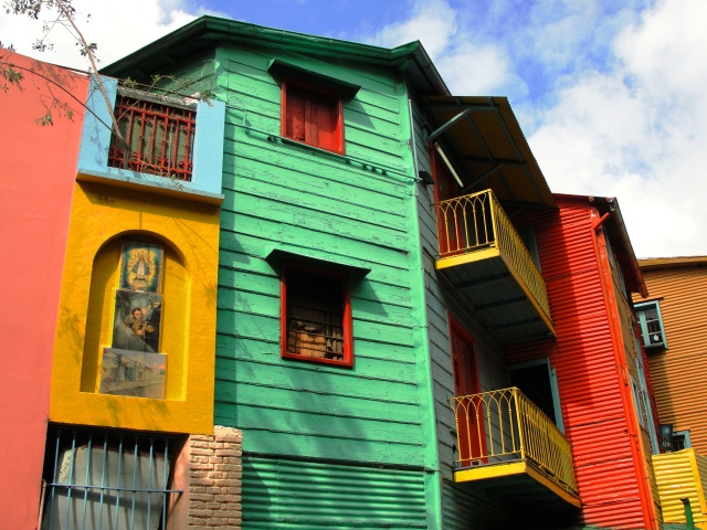Colorful houses in La Boca, Argentina