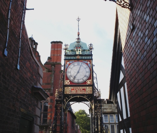 Eastgate Clock - Chester, England - 2nd most photographed Clock - Clock Tower on Bridge