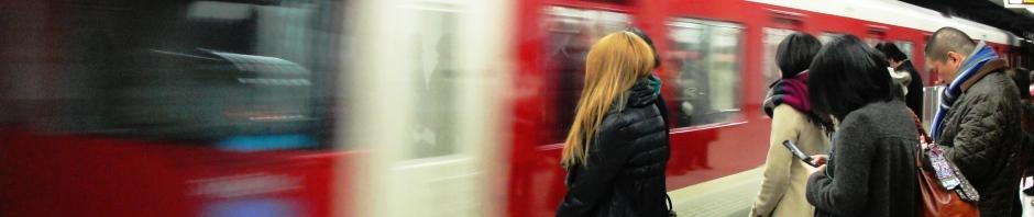 Kyoto Subway, Blur and Reflection, Kyoto, Japan, Subway