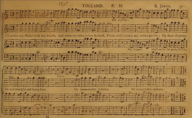 Delights of Harmony - Stephen Jenks - Psalm Tunes - Norfolk Compiler - Shape Note Singing - Sacred Harp - Tolland - Tunebooks