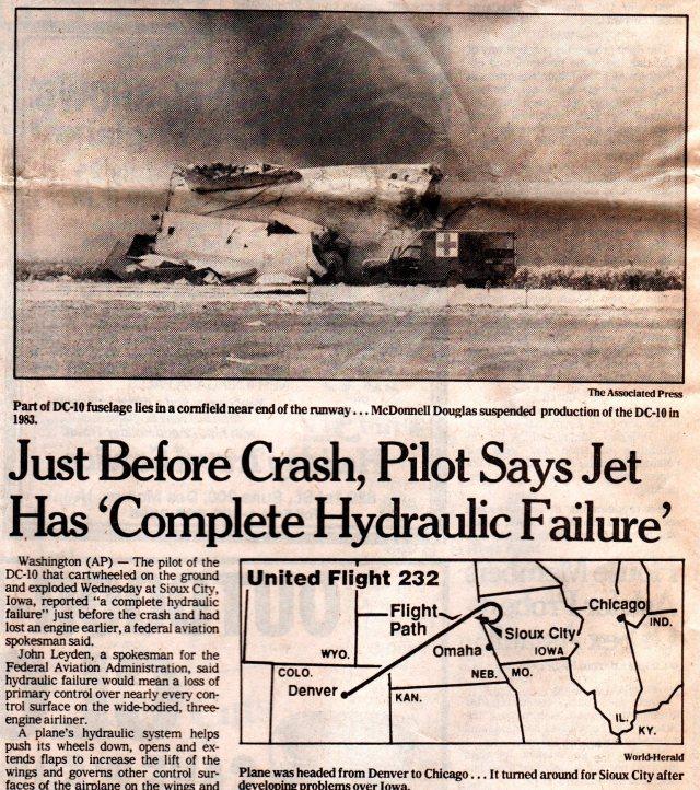United Air Lines Flight 232 - Sioux City, Iowa - Plane Crash - Hydraulic Failure - Blocked Memories