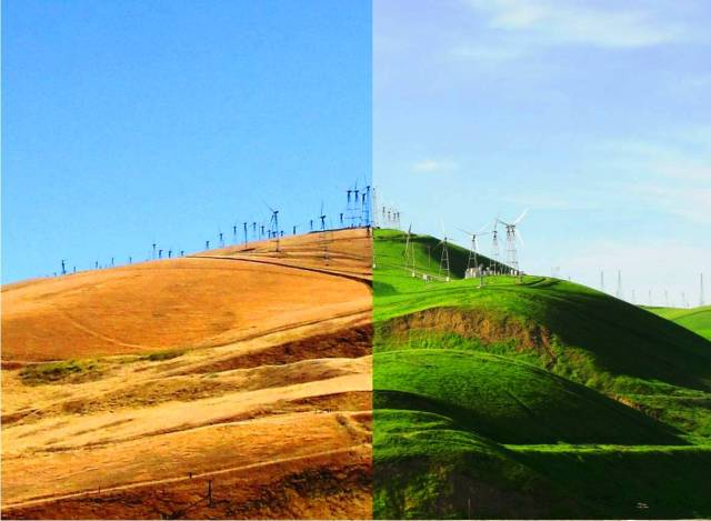 Altamont Hills Summer versus Winter