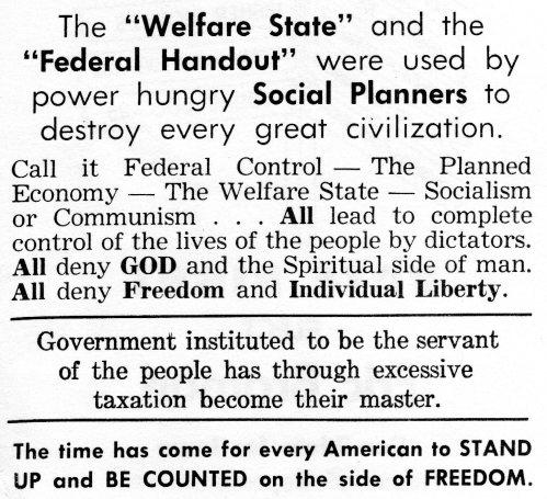 Welfare State Federal Handout