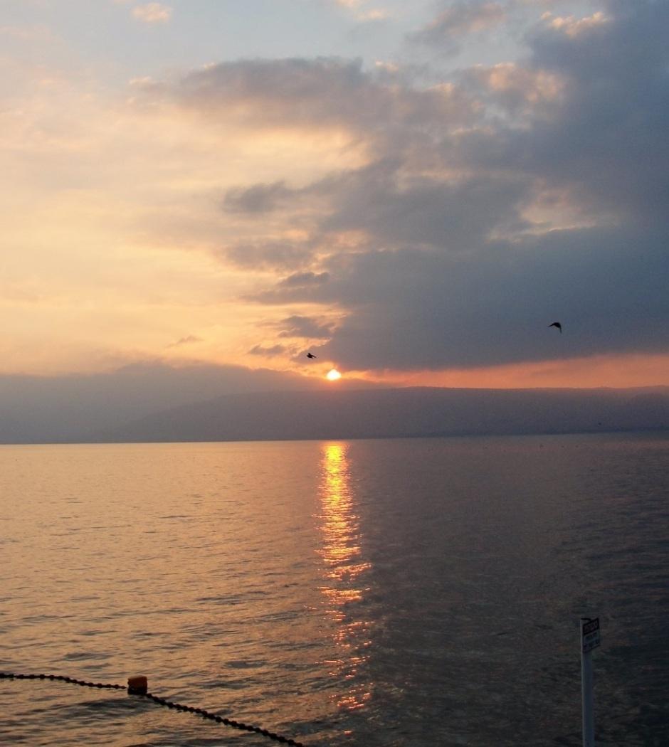 Sunrise on the Sea of Galilee, Tiberias, Galilee, Sunrise