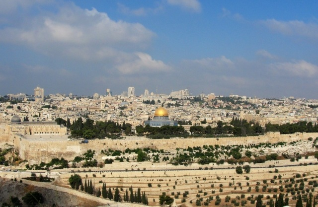 Jerusalem from the Mount of Olives - Dome of the Rock - Vacation to Israel - Tour of Israel - Jerusalem Tour - Golden Dome
