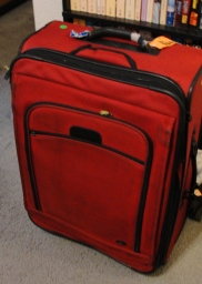 Clifford the Big Red Suitecase - Travel - Packing - Large Red Suitcase - Vacation - Trip to Israel