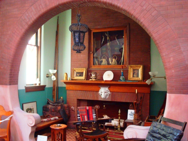 Interior of the General Lew Wallace Study, Crawfordsville, Indiana Ben-Hur