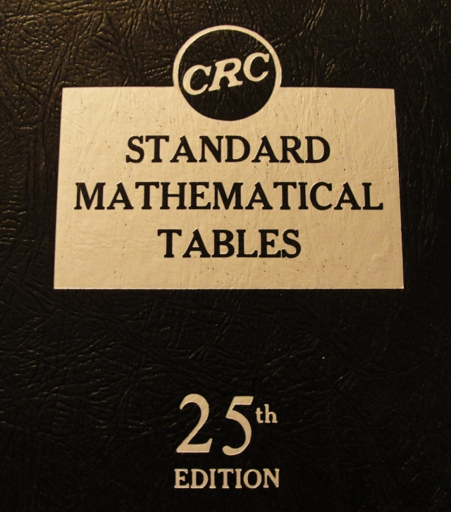 CRC Standard Mathematical Tables