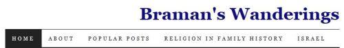 Blog Menu for Braman's Wanderings