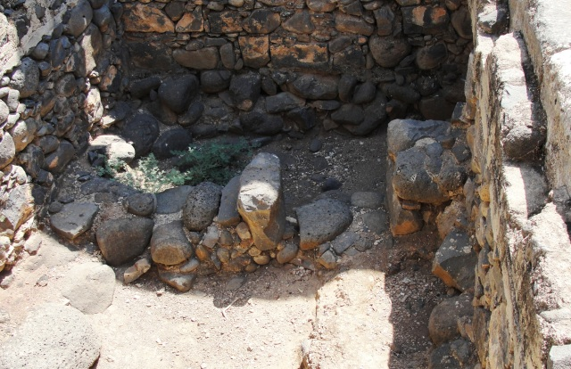 Foundation of first century synagogue in Capernaum