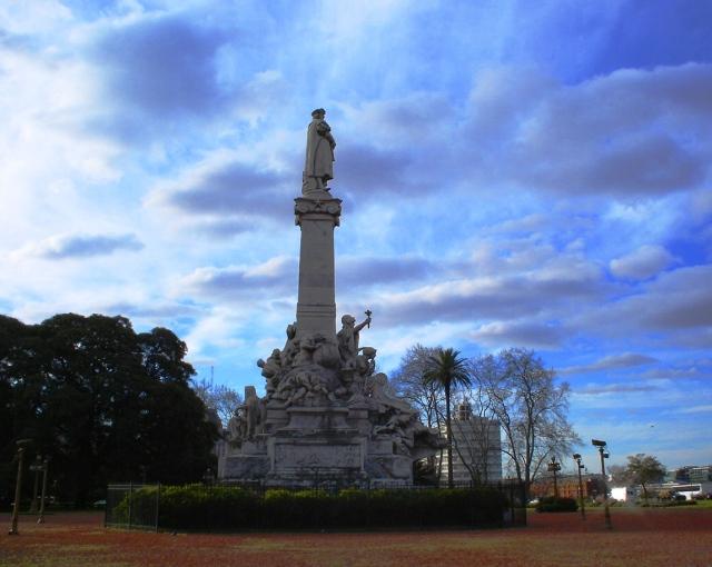 Cristoforo Colombo looks out over the Rio de la Plata in Buenos Aires.