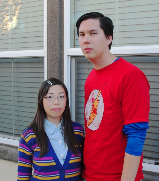 Sheldon Cooper and Amy Farrah Fowler Costumes - Big Bang Theory