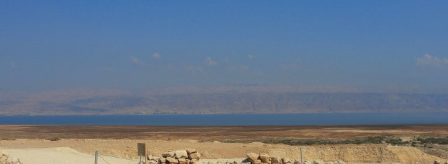 Dead Sea seen from Qumran - Israel - Lowest Point on Earth