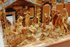Large Olive Wood Nativity Scene from Bethlehem
