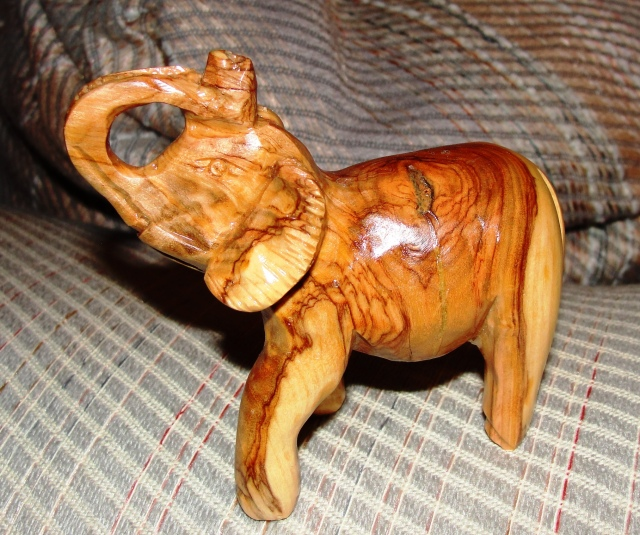 Olive wood elephant from Bethlehem