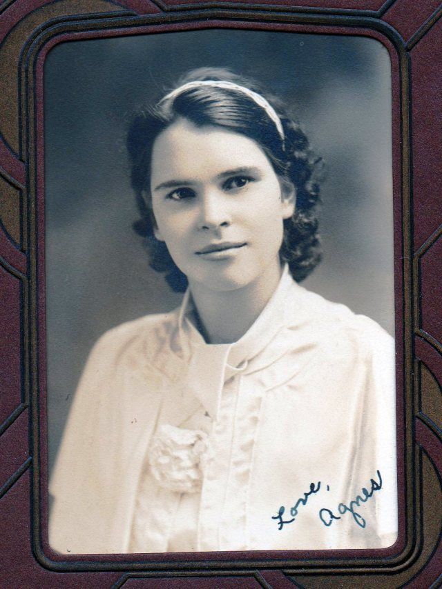 Grandma High School Picture - Agnes Van Duzor