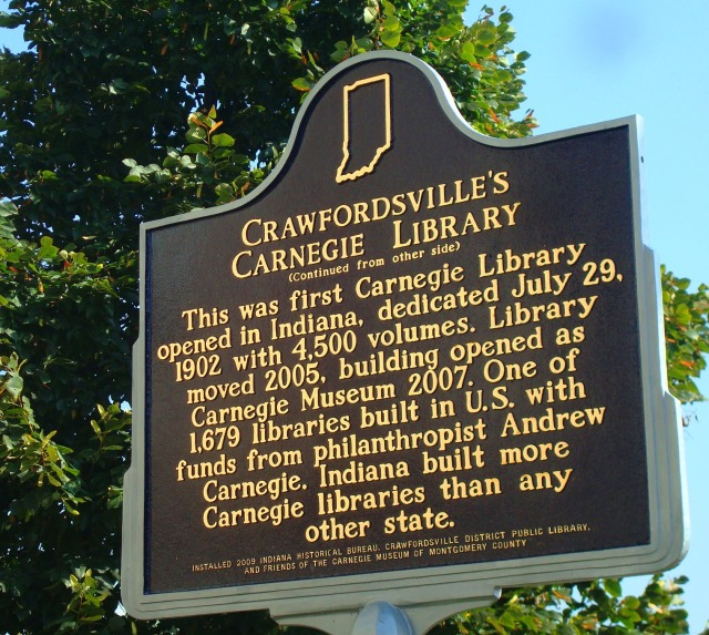 Crawfordsville, Indiana - Carnegie Library - First in Indiana