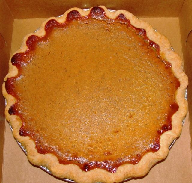 Thanksgiving Pie - Pumpkin Pie - First Thanksgiving