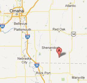 Coin, Iowa - Map of Southwest Iowa