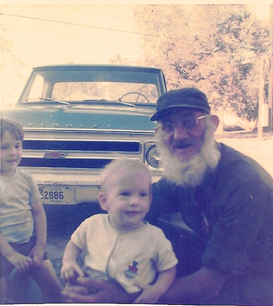 Grandpa, Gary and I - Full White Beard - Old Truck