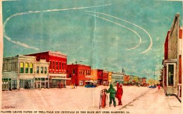 George Shane Painting - Hamburg, Iowa - Vapor Trails