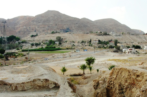 Jericho Hills as seen from Tell es-Sultan or Tell Jericho - Joshua - Spies - Rahab