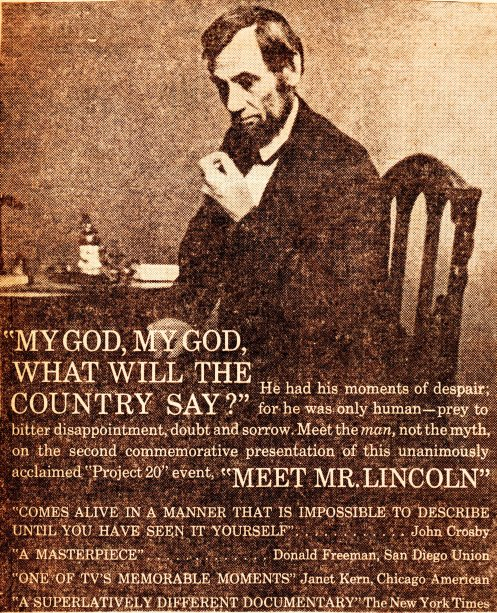 Meet Mr. Lincoln Ad - Project 20 Documentay - NBC - 1959