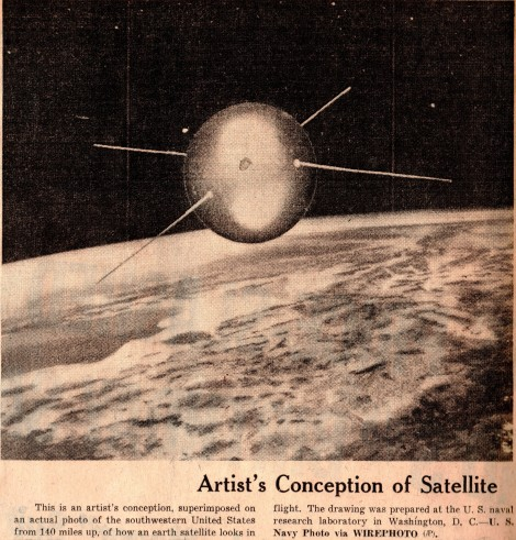 October 1957 Sputnik Newspaper Clippings First Satellite