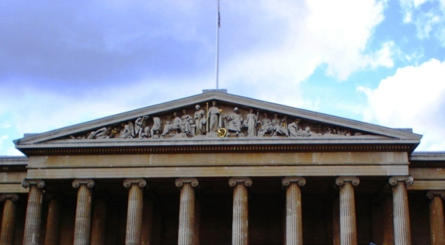 British Museum - Entrance - Antiquities - South Pediment - Sir Richard Westmacott