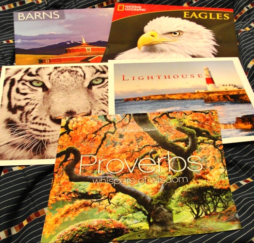 Calendars for the year - Barns - Eagles - Eyes - Lighthouses - Proverbs