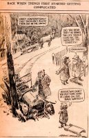 Frank Andrea Miller Cartoon - Des Moines Register - Winter Driving - Car Wreck in snow