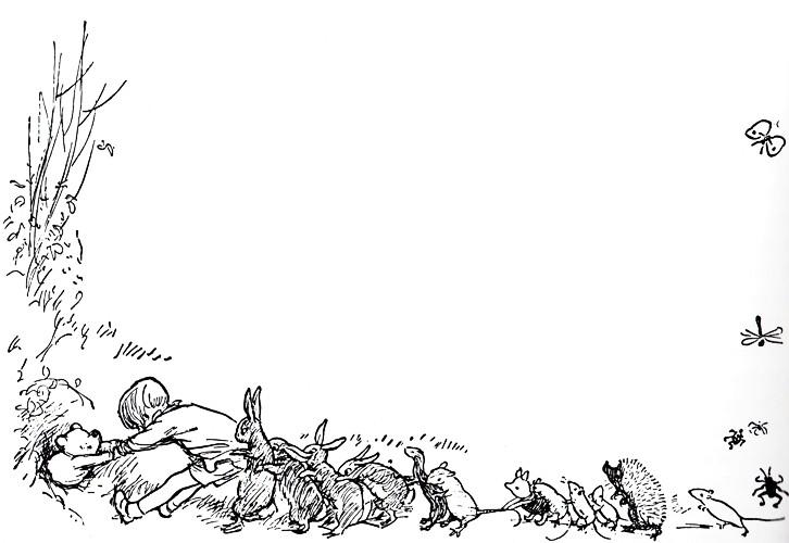 Aa Milne Drawings