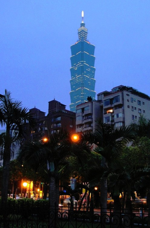 Taipei 101 - Taiwan - 2nd Tallest Building - Twilight Picture