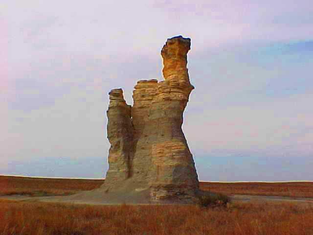 Castle Rock - March 2000 - Gove County Kansas - Scenic Kansas