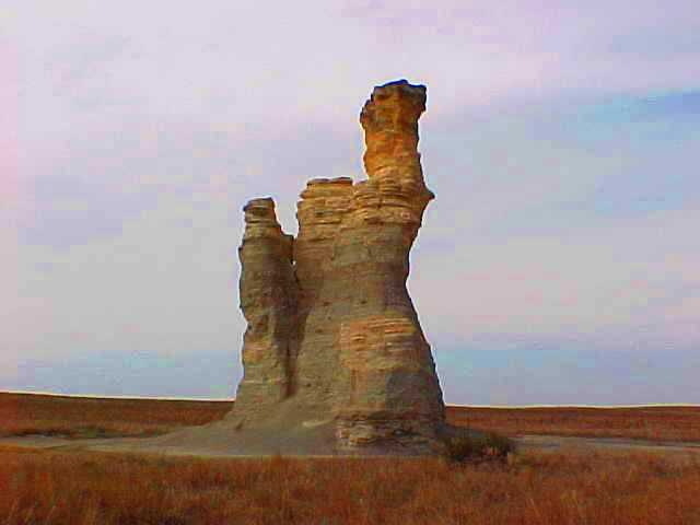 Castle Rock - March 2000 - Gove County Kansas - Scenic Kansas
