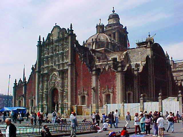 Mexico City Metropolitan Cathedral and Tabernacle - Baroque Architecture - Zócalo (Plaza de la Constitución)