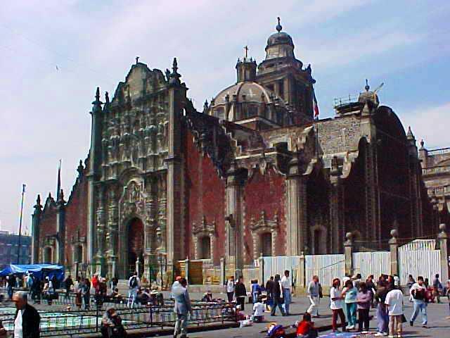 Mexico City Metropolitan Cathedral and Tabernacle - Baroque Architecture - Zócalo (Plaza de la Constitución)