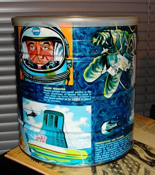 Butternut Coffee Can - Space Race Scenes - Mercury - Gemini - Apollo  - NASA