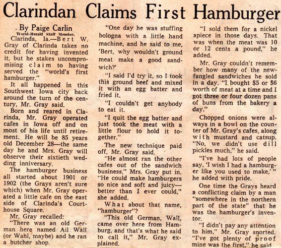 Clarindan Claims First Hamburger - Omaha World-Herald - Paige Carlin - Bert Gray