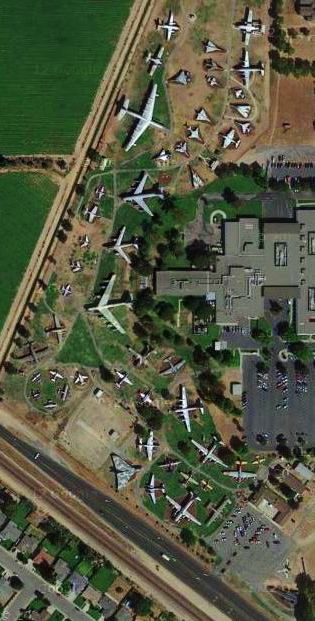 Google Maps - SR-71 - Castel Air Museum - Atwater California