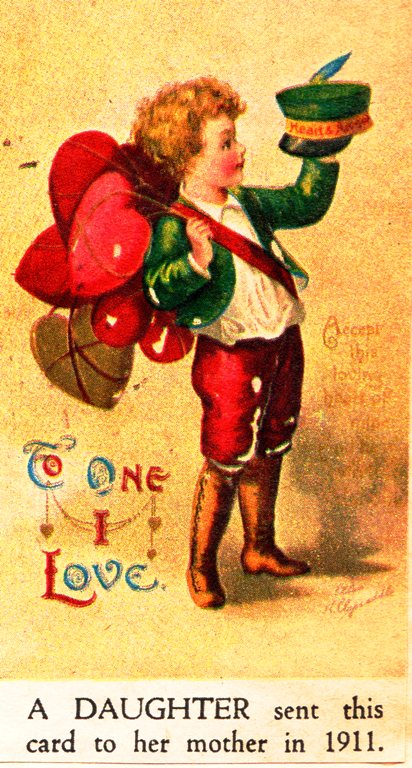 Century Old Valentines - Happy Valentine's Day - Old Valentine Cards - Hearts
