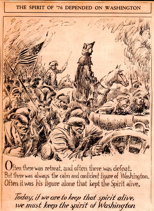 Washington at Valley Forge - Frank Miller Cartoon - Washington's Birthday - Presidents Day