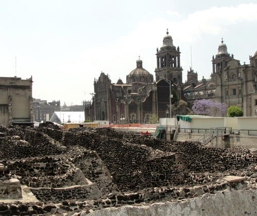 Mexico City - Templo Mayor - Metropolitan Cathedral - Jacaranda Tree - Archaeology - Montezuma's Revenge - Spanish - Aztec