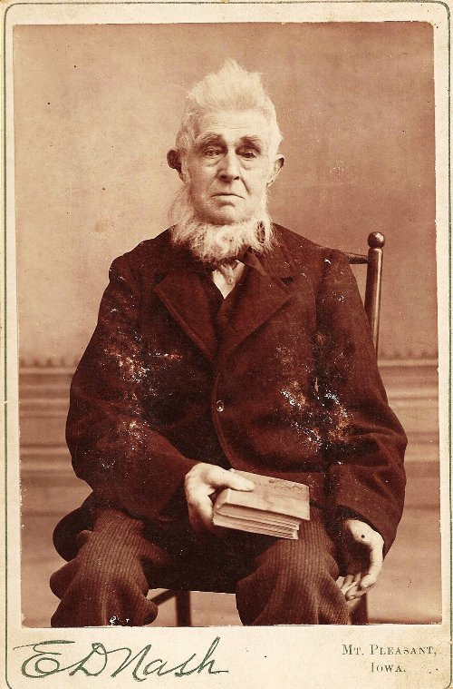 Absalom Leeper, Mount Pleasant Iowa, Preacher, Christian Church, Pioneer Preacher, Mad as a Hatter - Hat Maker - Trenton, Iowa, Scotch-Irish, Irish