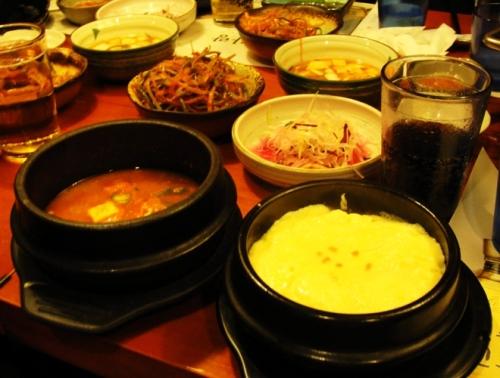Korean BBQ - Charcoal Grill - Baked Egg - Korean Soup - Korean Food