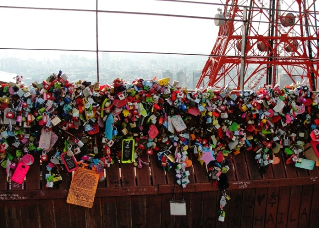 Love Padlock - N Seoul Tower - Namsan Tower - Eternal Love - Locked up Love - Graffiti