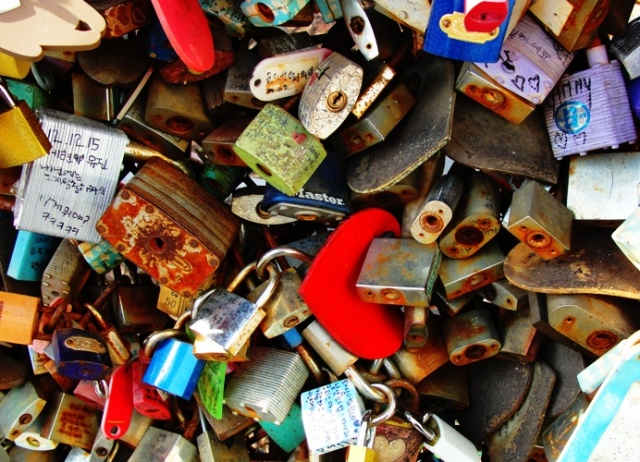 Love Padlock - Rusted Love - Heart - N Seoul Tower - Namsan Park - Eternal Love