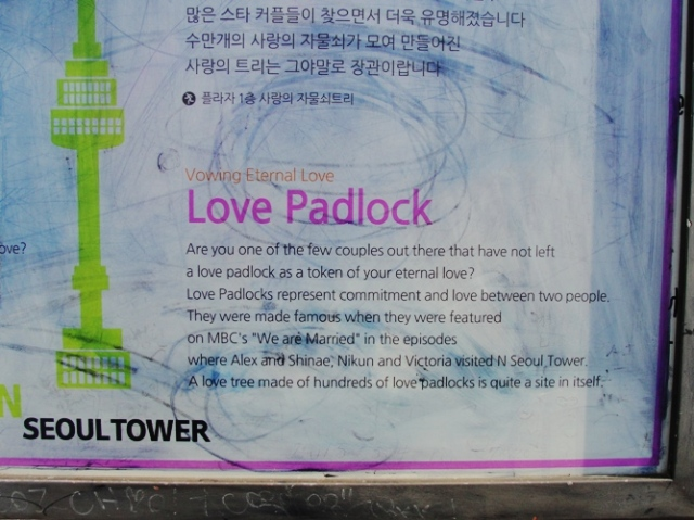 Love Padlock - N Seoul Tower - Seoul South Korea - Namsan Park - We are Married - Eternal Love